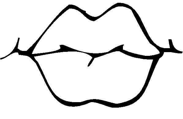 pictures of lips to color lips coloring page clipart best clipart best of lips color pictures to