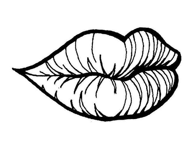 pictures of lips to color lips coloring pages clipart best color pictures of lips to