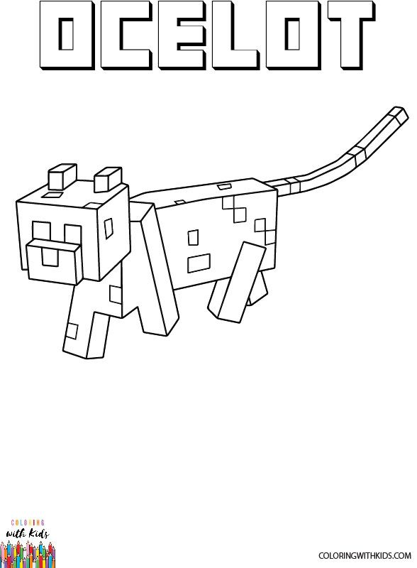 pictures of minecraft ocelots minecraft ocelot coloring page author painter adapted of minecraft pictures ocelots