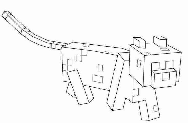pictures of minecraft ocelots minecraft ocelot coloring pages at getcoloringscom free minecraft of ocelots pictures