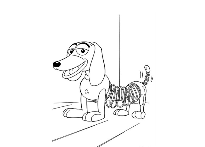pictures of slinky dog from toy story slinky dog toy story coloring page free printable from pictures story dog of toy slinky