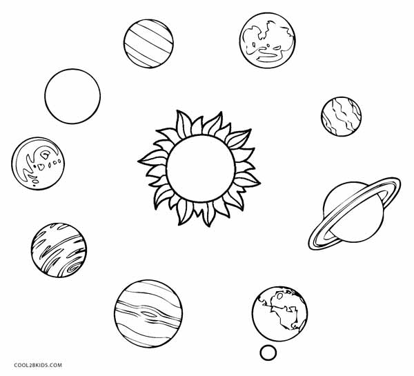 pictures of the planets to color printable solar system coloring pages for kids cool2bkids of pictures planets color the to