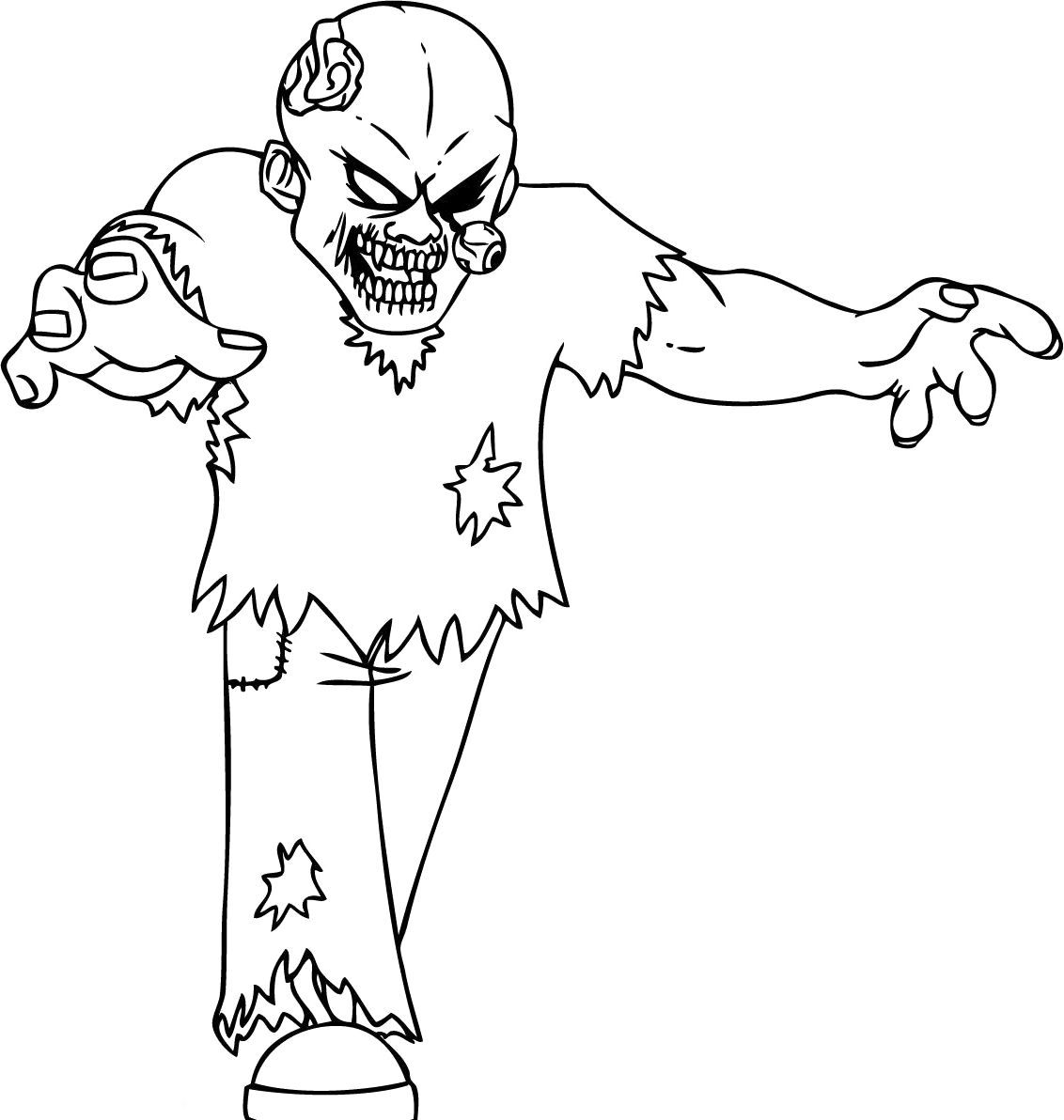 pictures of zombies to color scary zombie coloring page coloring home to of zombies color pictures