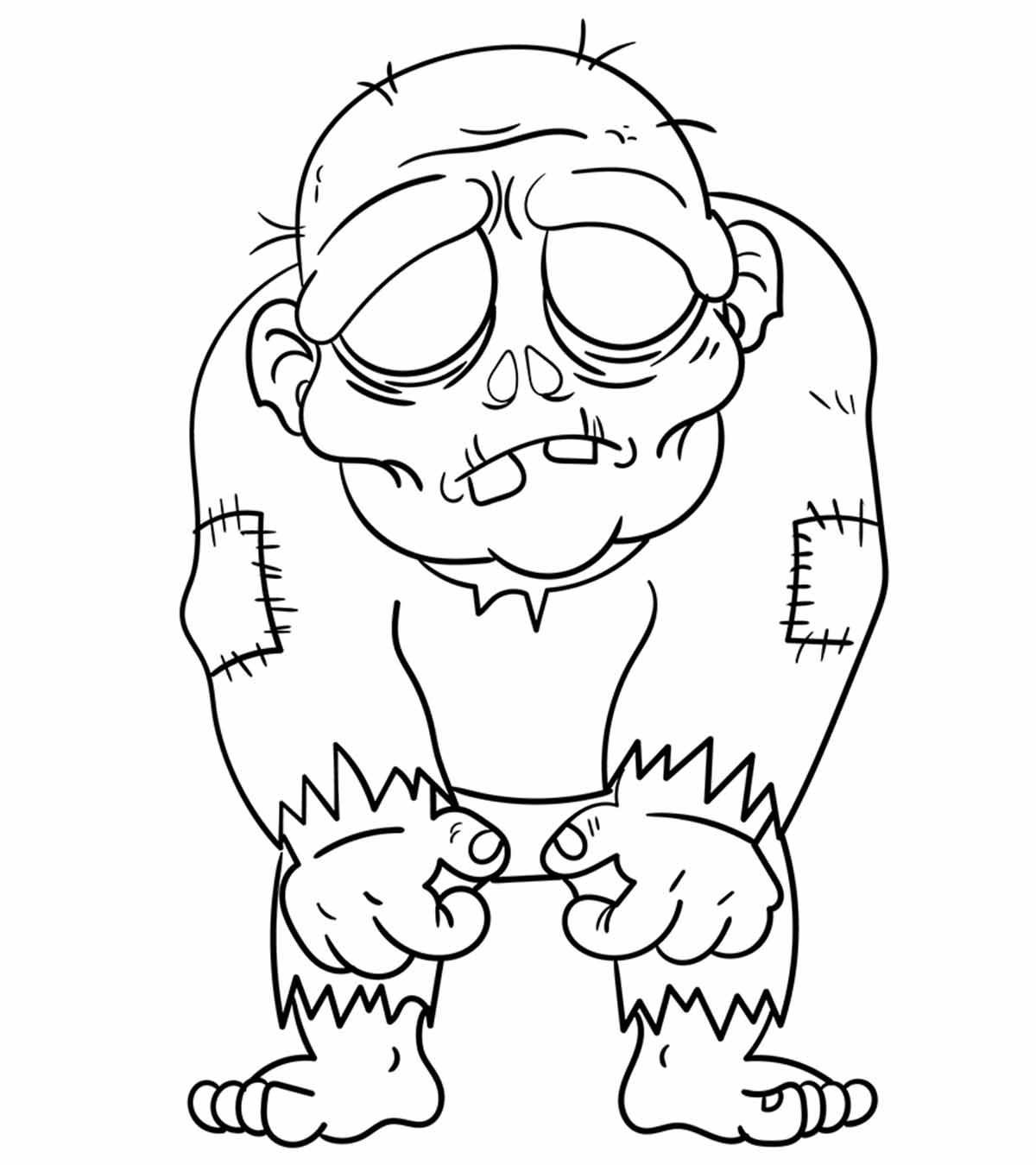 pictures of zombies to color scary zombie coloring pages coloring home of to zombies pictures color