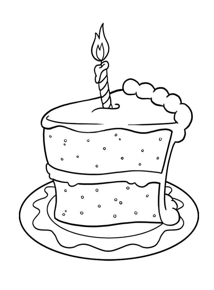 piece of cake coloring page cake slice coloring page get coloring pages piece page of coloring cake