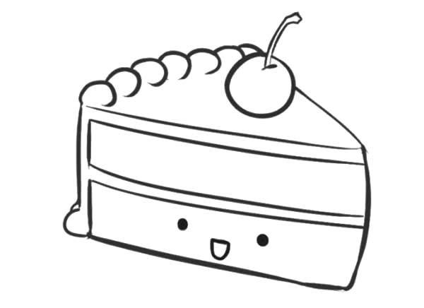 piece of cake coloring page cake slice on plate coloring pages best place to color cake piece page coloring of