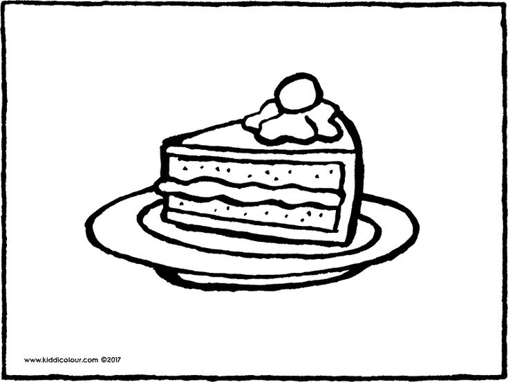 piece of cake coloring page piece of cake with candle coloring pages printable page of piece coloring cake