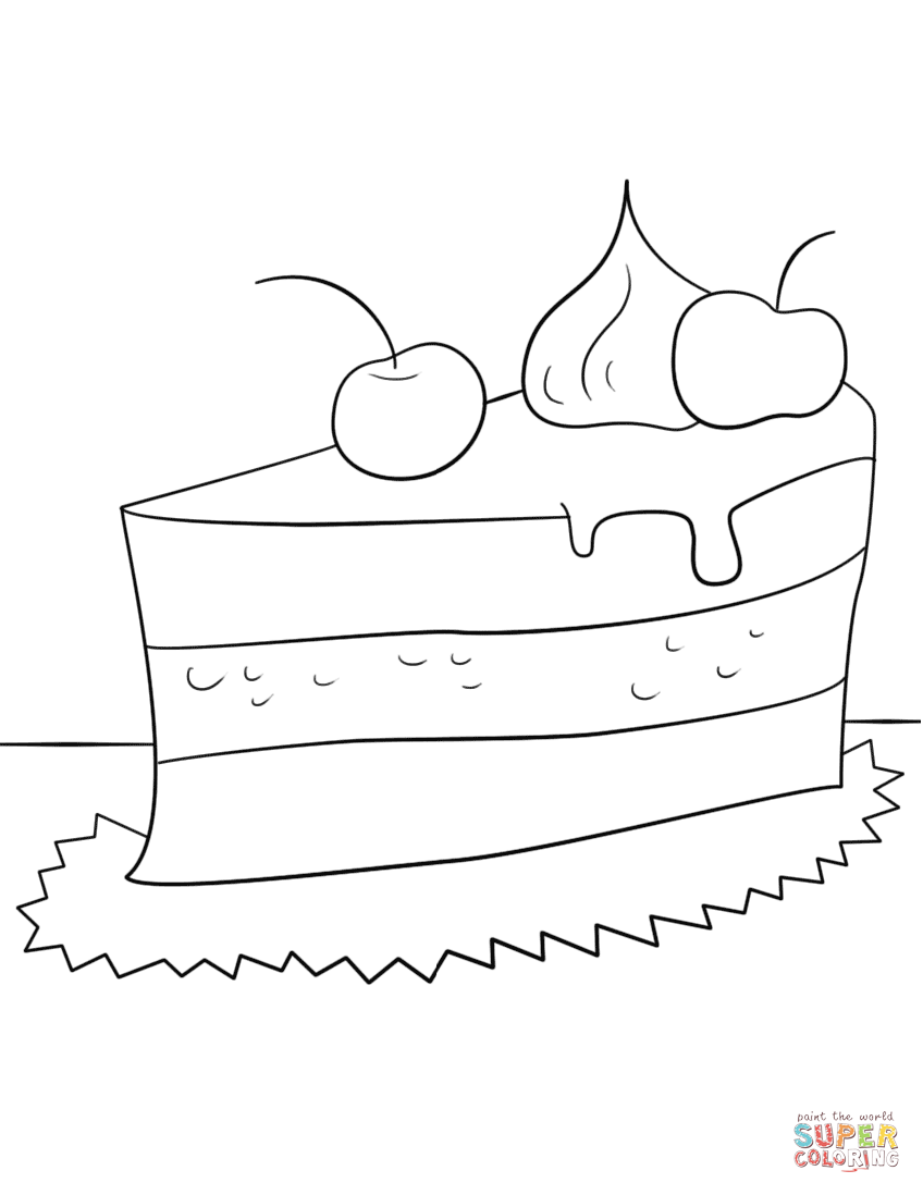 piece of cake coloring page slice of cake coloring page printable get coloring pages of coloring page cake piece