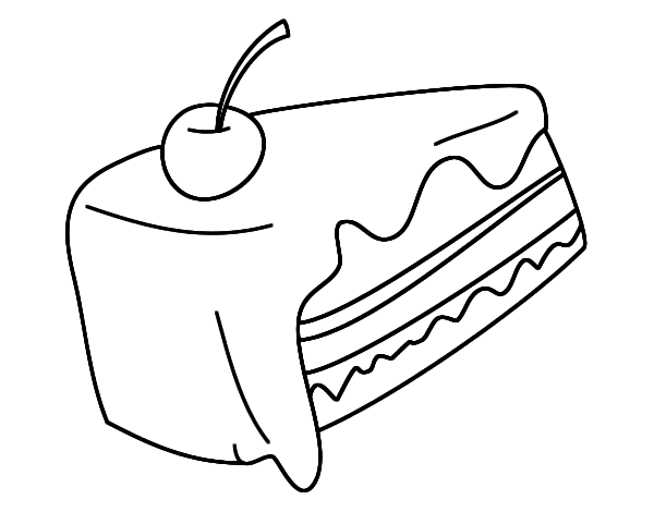 piece of cake coloring page smiling cake slice coloring pages smiling cake slice cake page piece coloring of