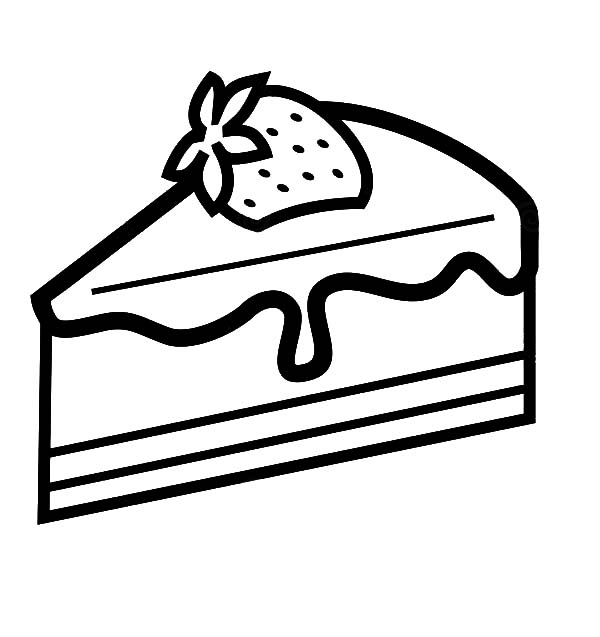 piece of cake coloring page strawberry cake slice coloring pages best place to color page cake coloring of piece