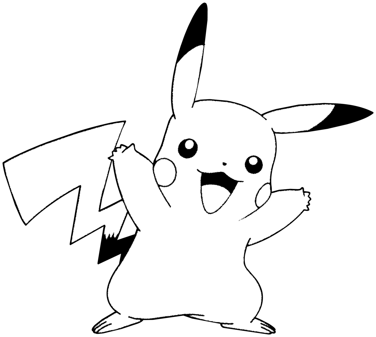 pikachu coloring pages pikachu with a hat coloring page bubakidscom pikachu coloring pages