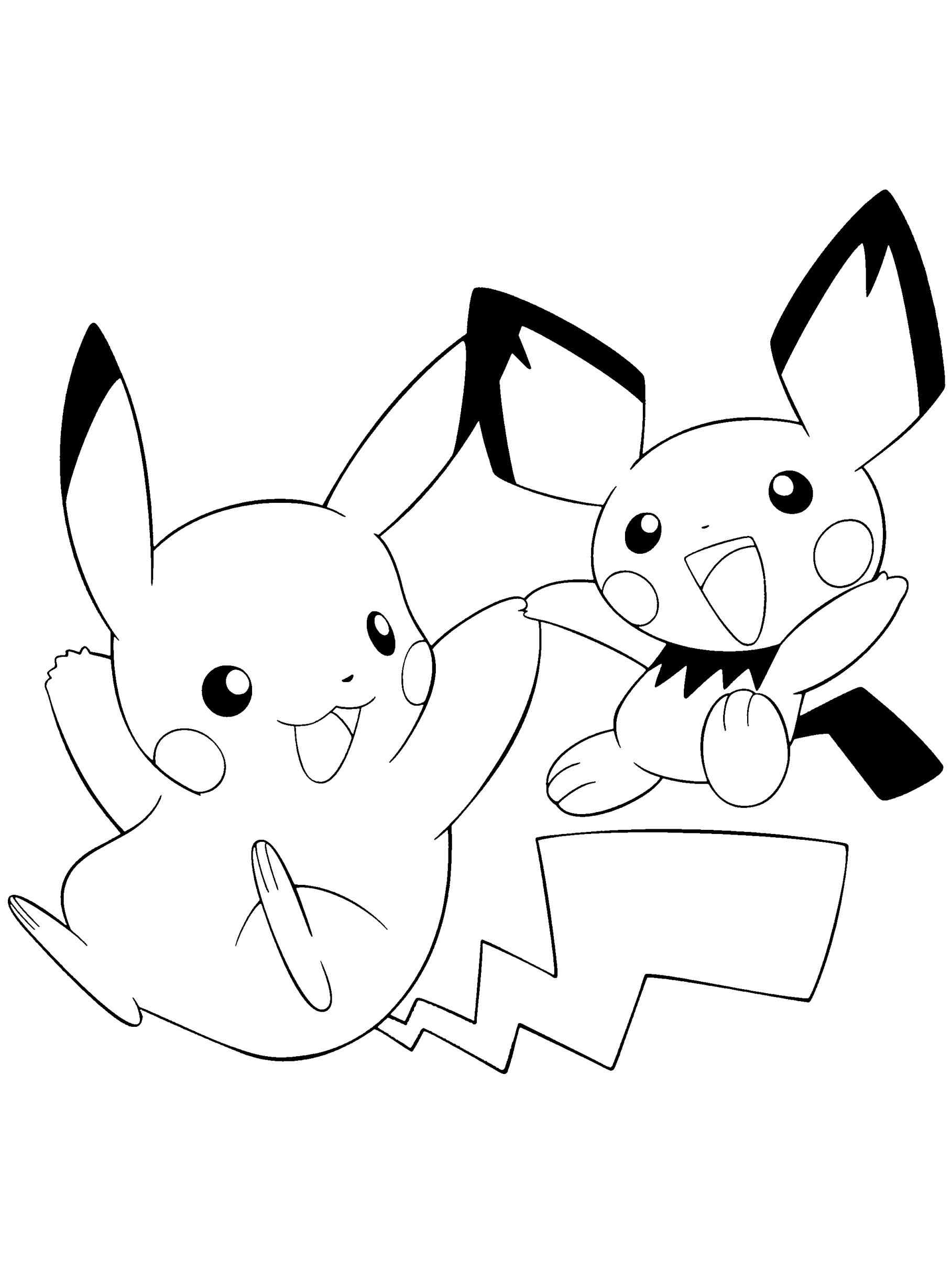 pikachu coloring pages pokemon thunderbolt attack 10 pikachu coloring pages pages coloring pikachu