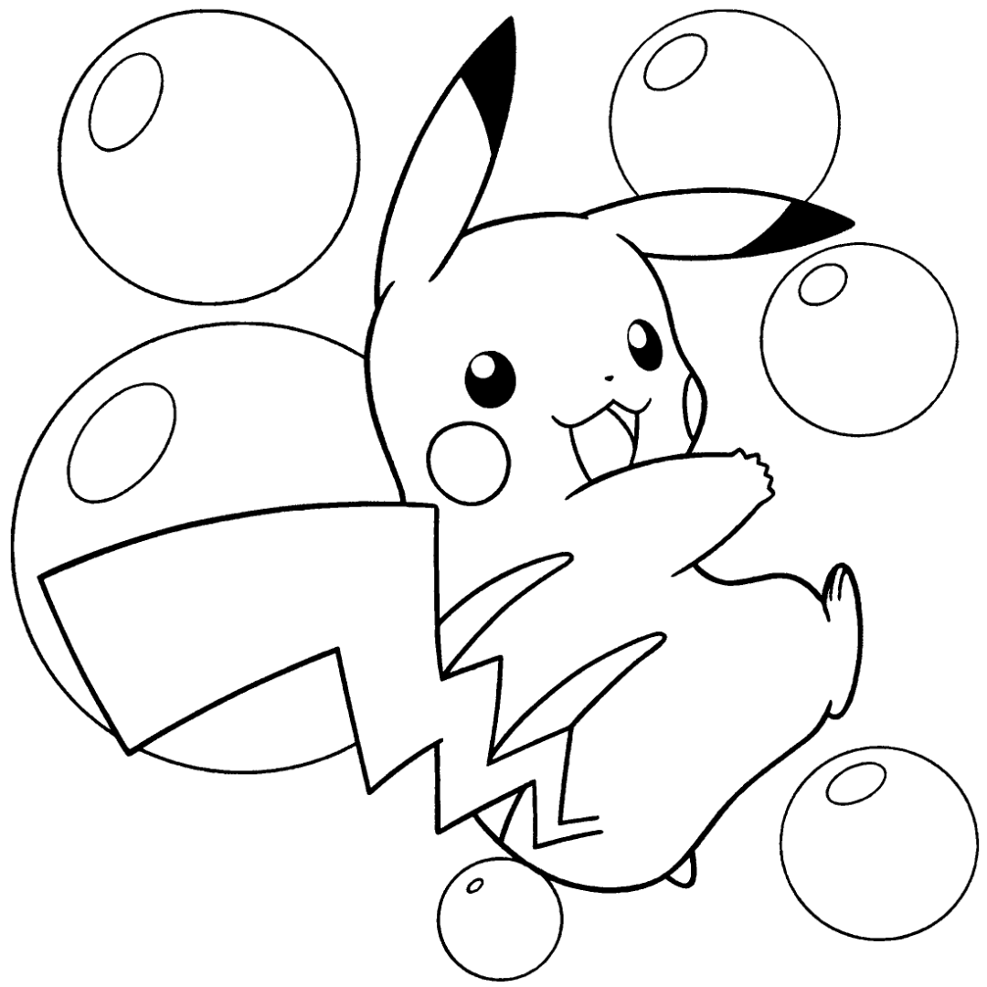 pikachu coloring pages pokemon thunderbolt attack 10 pikachu coloring pages pages pikachu coloring