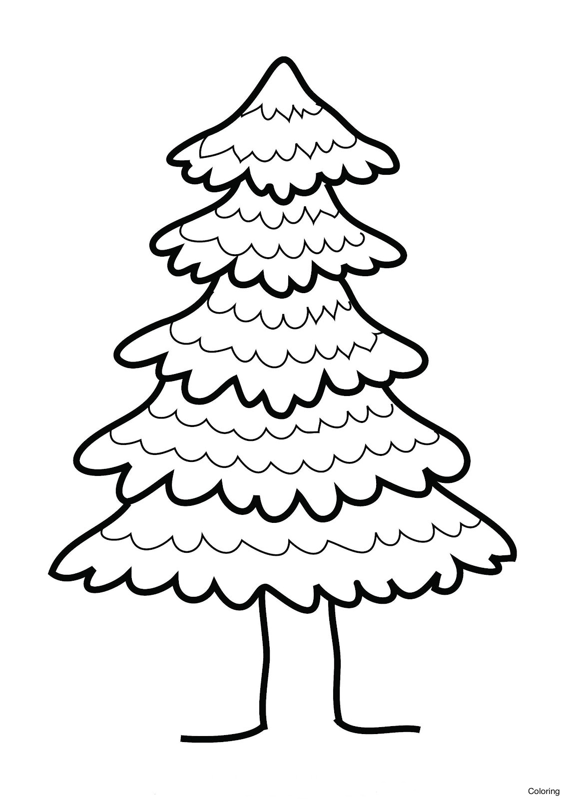 pine tree coloring pages pine tree outline coloring home coloring tree pine pages