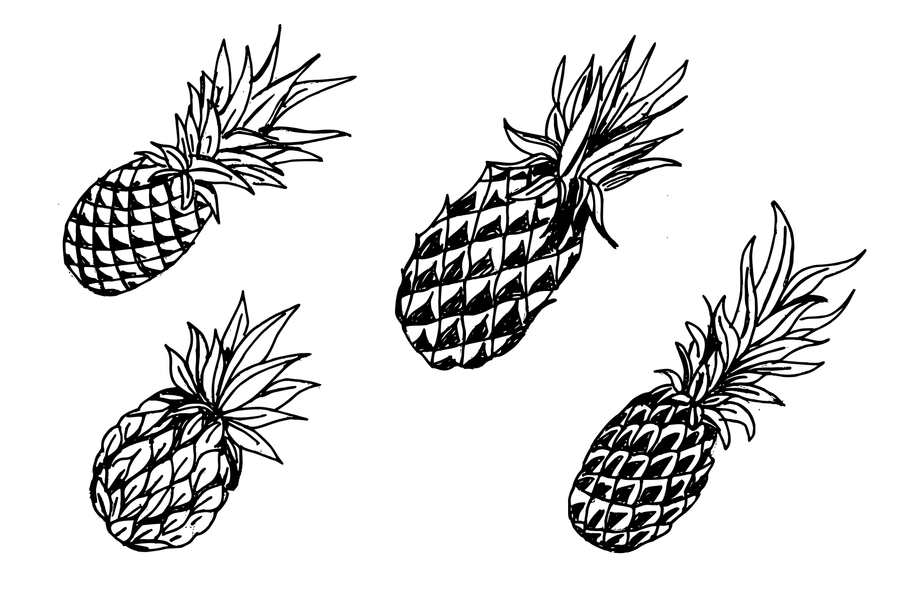pineapple drawing 4 pineapple drawing png transparent onlygfxcom drawing pineapple 1 1