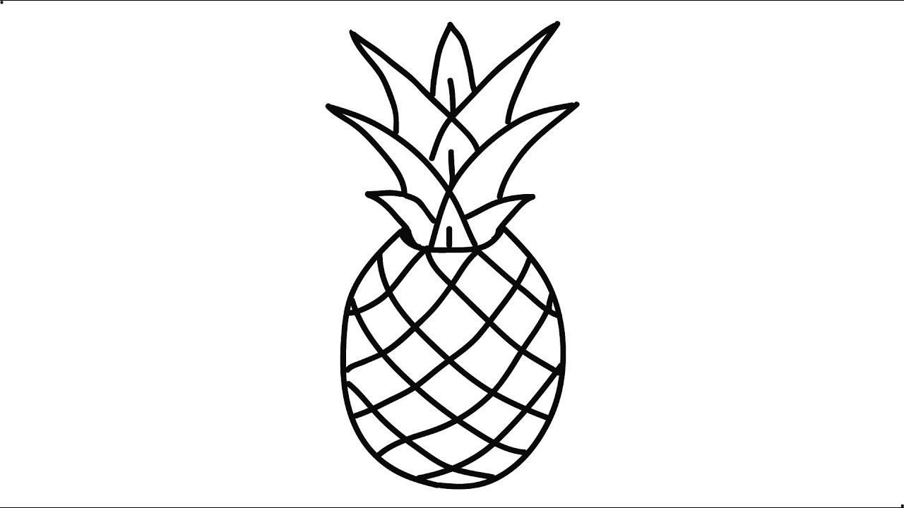 pineapple drawing pineapple how to draw pineapple easy drawing youtube pineapple drawing