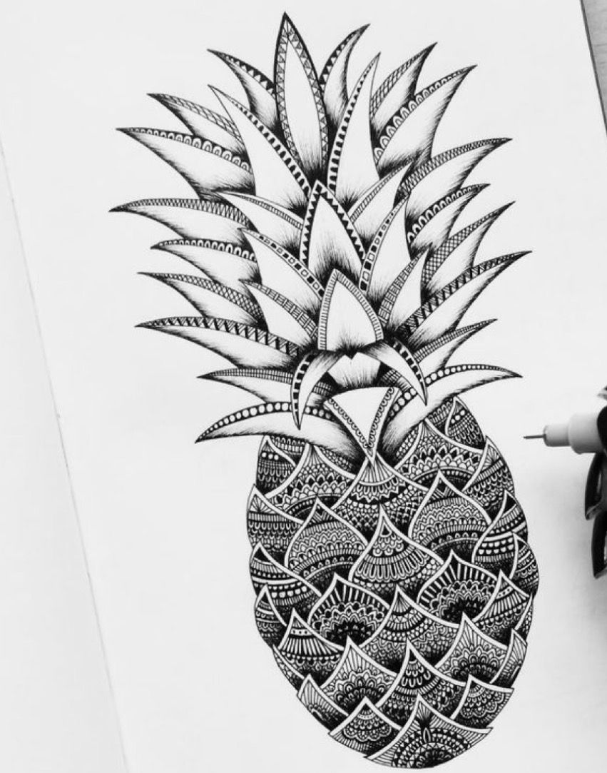 pineapple drawing the detail work within this pineapple mandala design is drawing pineapple