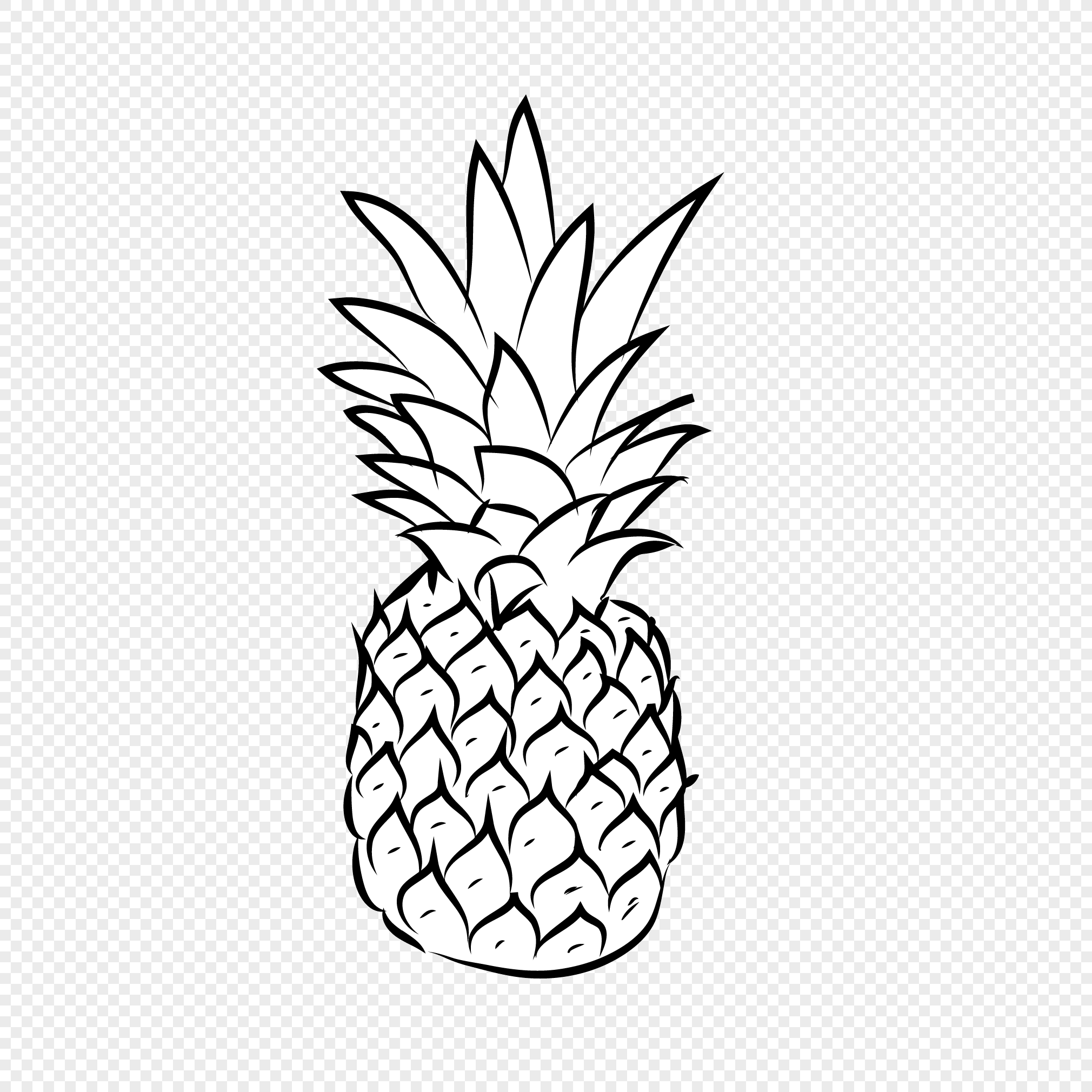 pineapple line drawing how to draw a pineapple step by step very easy and fast line pineapple drawing