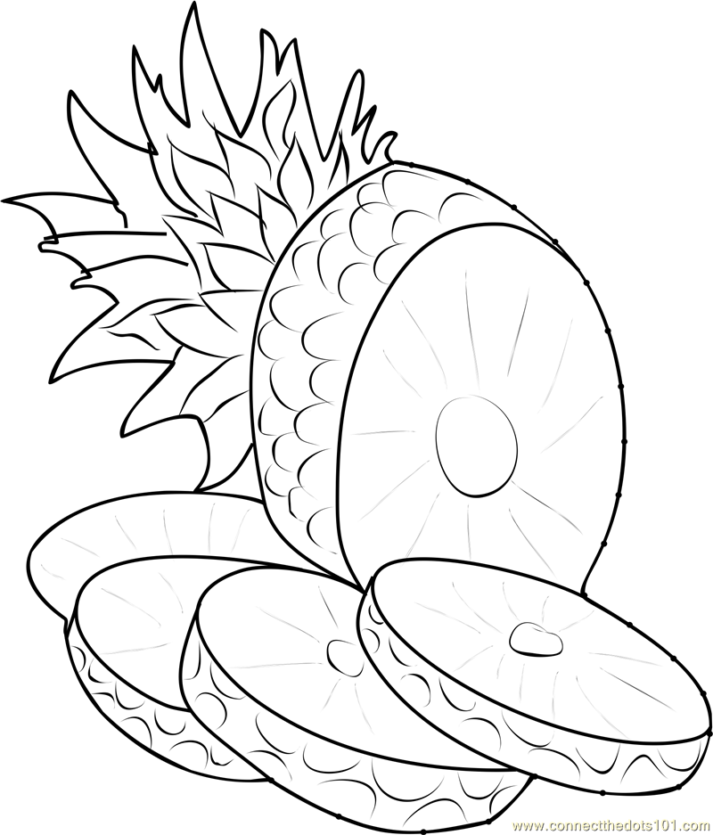 pineapple line drawing pineapple line art png please to search on seekpngcom pineapple line drawing