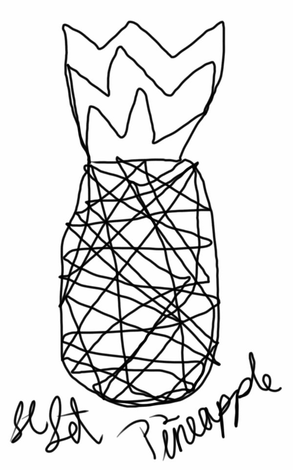 pineapple line drawing pineapple line drawing at getdrawings free download drawing line pineapple