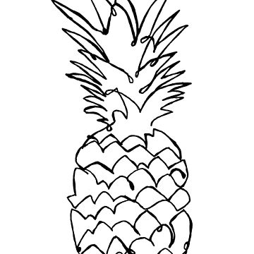 pineapple line drawing pineapple line drawing free download on clipartmag line drawing pineapple 1 1