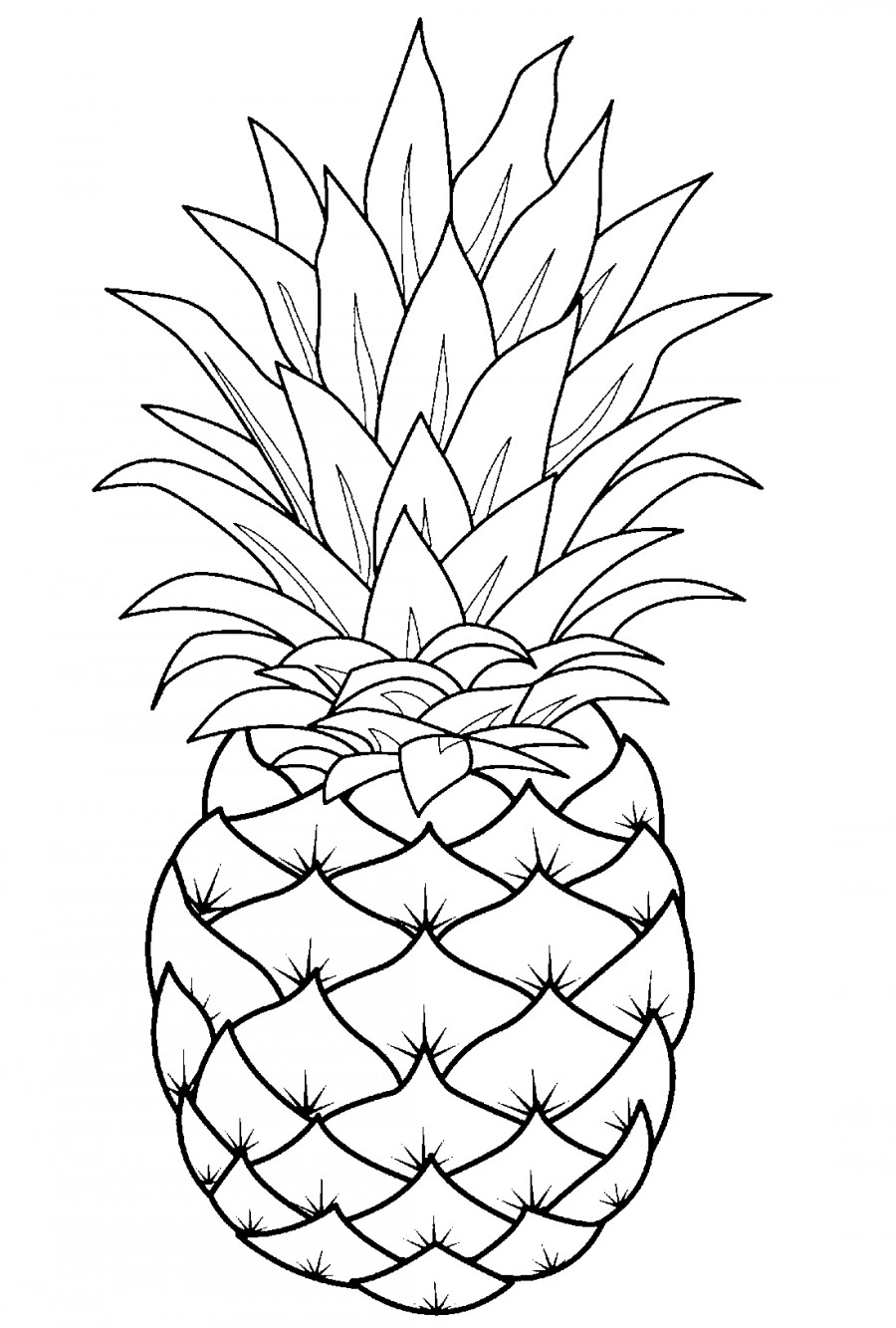 pineapple line drawing pineapple template with images line art drawings pineapple drawing line