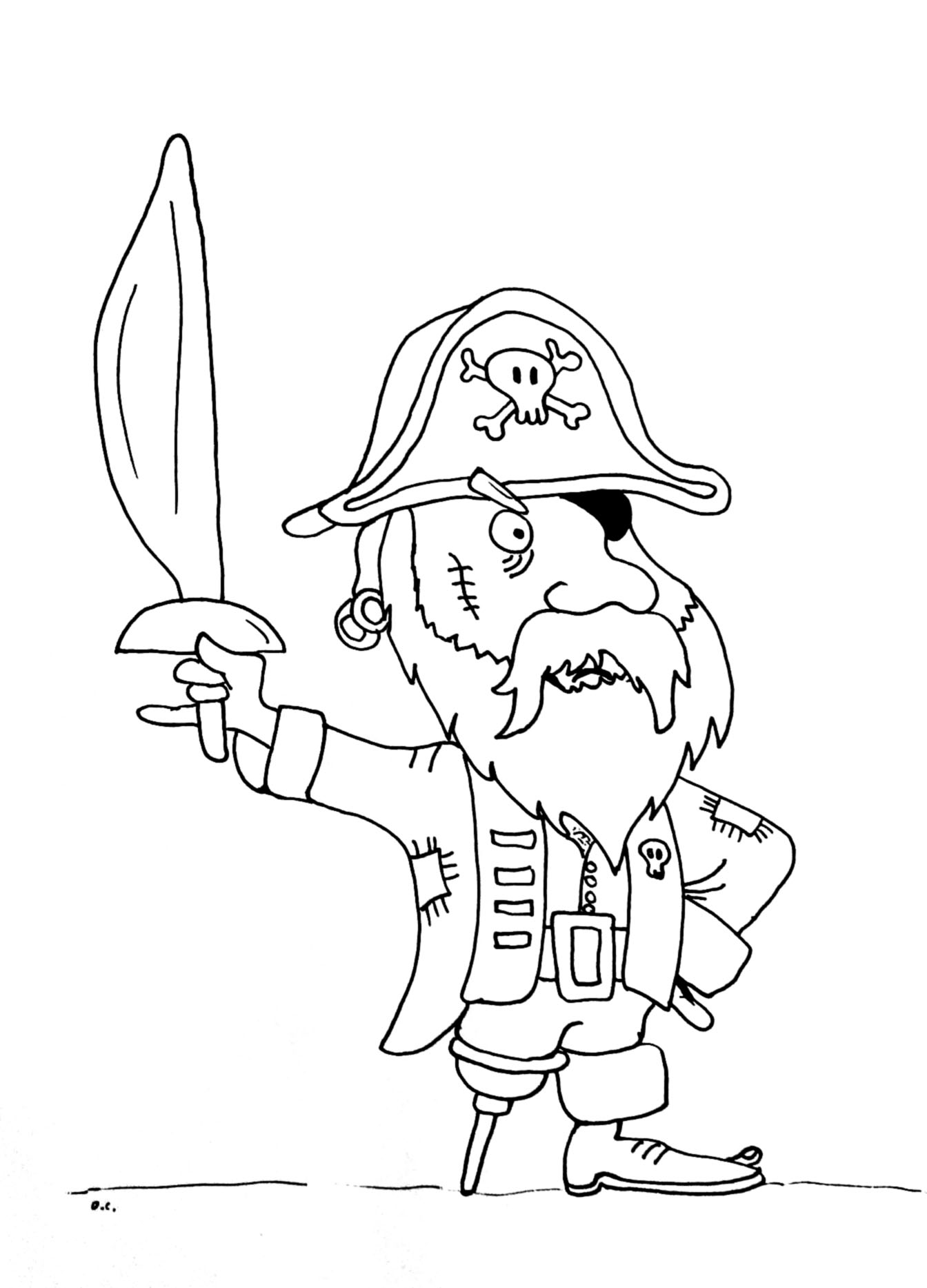 pirate images to color coloring page old pirate pirate to color images