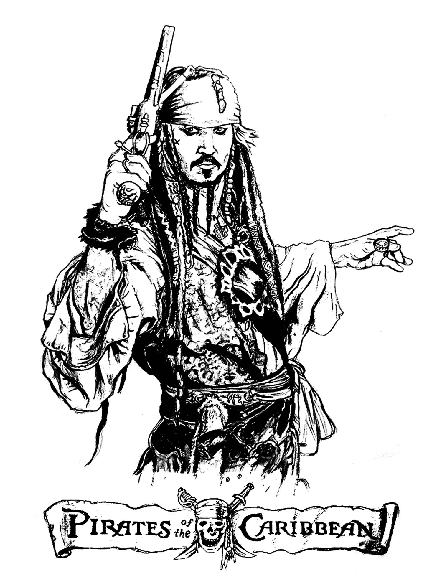 pirate images to color female pirate coloring pages at getcoloringscom free color to images pirate