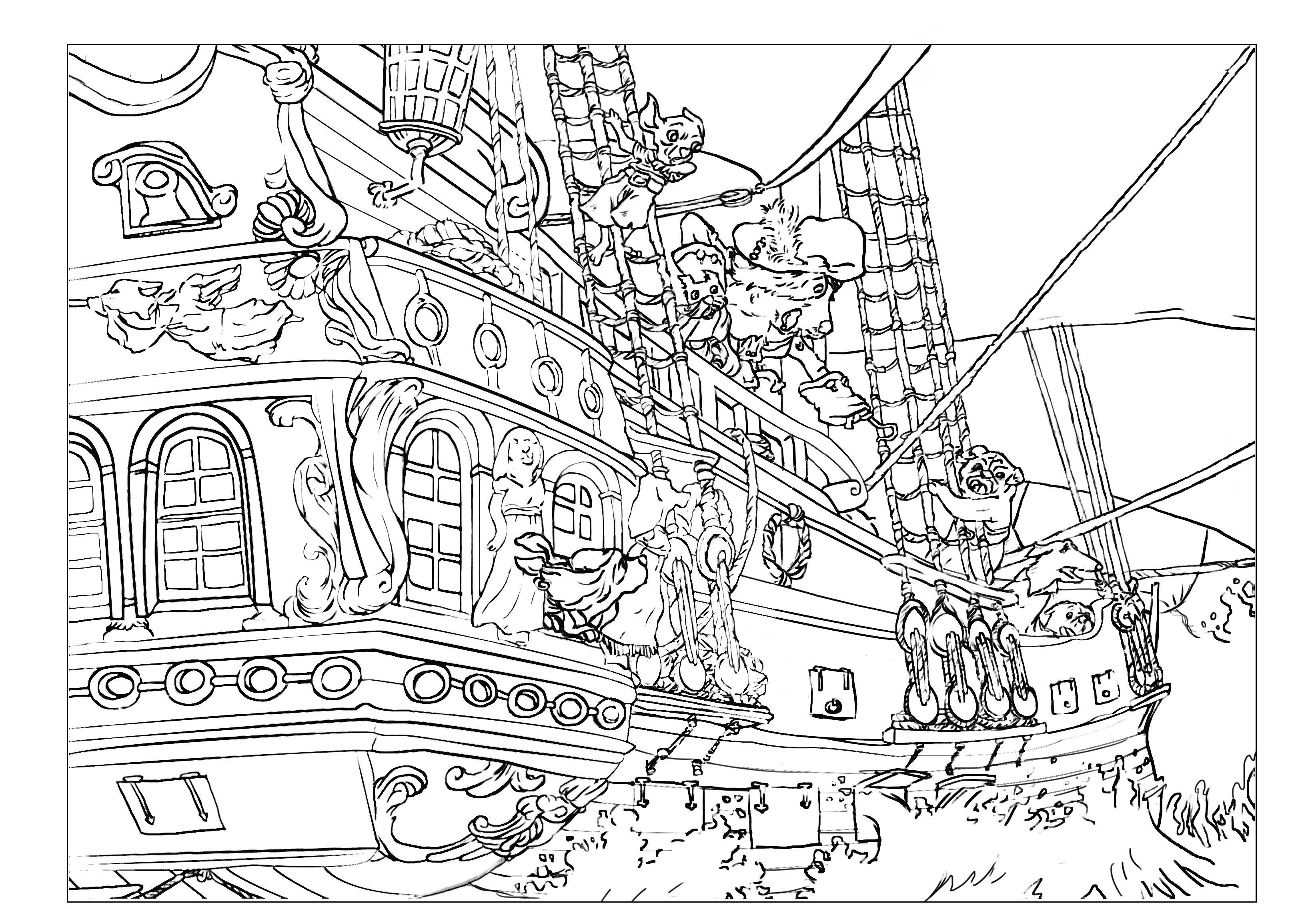 pirate images to color free printable pirate coloring pages for kids images pirate to color