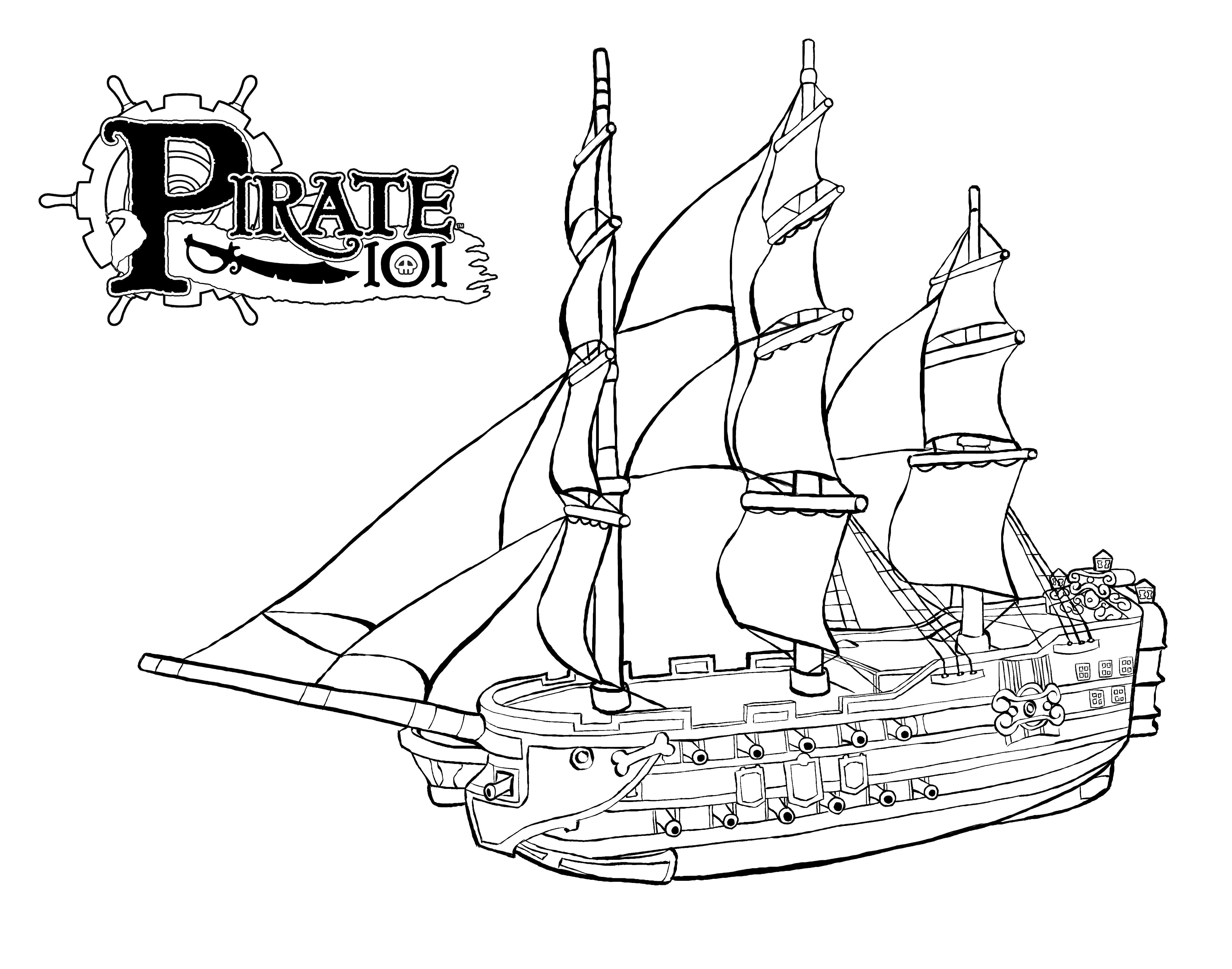 pirate images to color pirate coloring pages pirate101 free online game pirate color images to