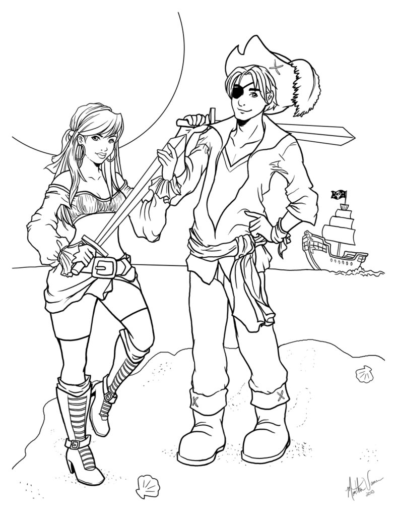 pirate images to color pirates of the caribbean coloring pages to download and images pirate to color