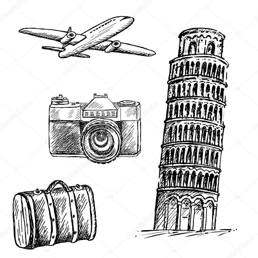 pisa drawing leaning tower of pisa a5a4 detailed hand drawn drawing pisa