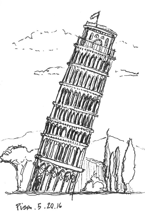 pisa drawing leaning tower of pisa drawing clipart best drawing pisa