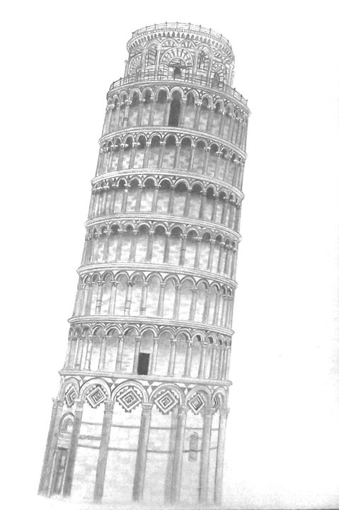 pisa drawing learn how to draw leaning tower of pisa world heritage pisa drawing