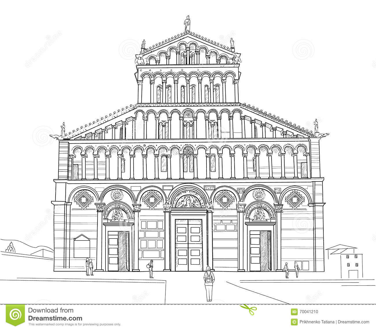 pisa drawing the baptistery of pisa architecture drawing pisa taj mahal drawing pisa