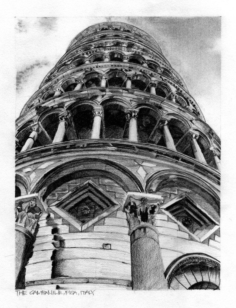 pisa drawing the leaning tower of pisa 8 x 10 print by beckandcilla on drawing pisa