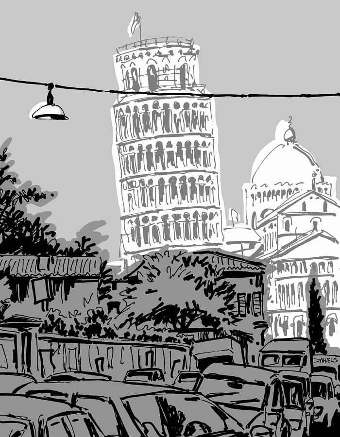 pisa drawing the leaning tower of pisa by untilblack leaning tower of drawing pisa