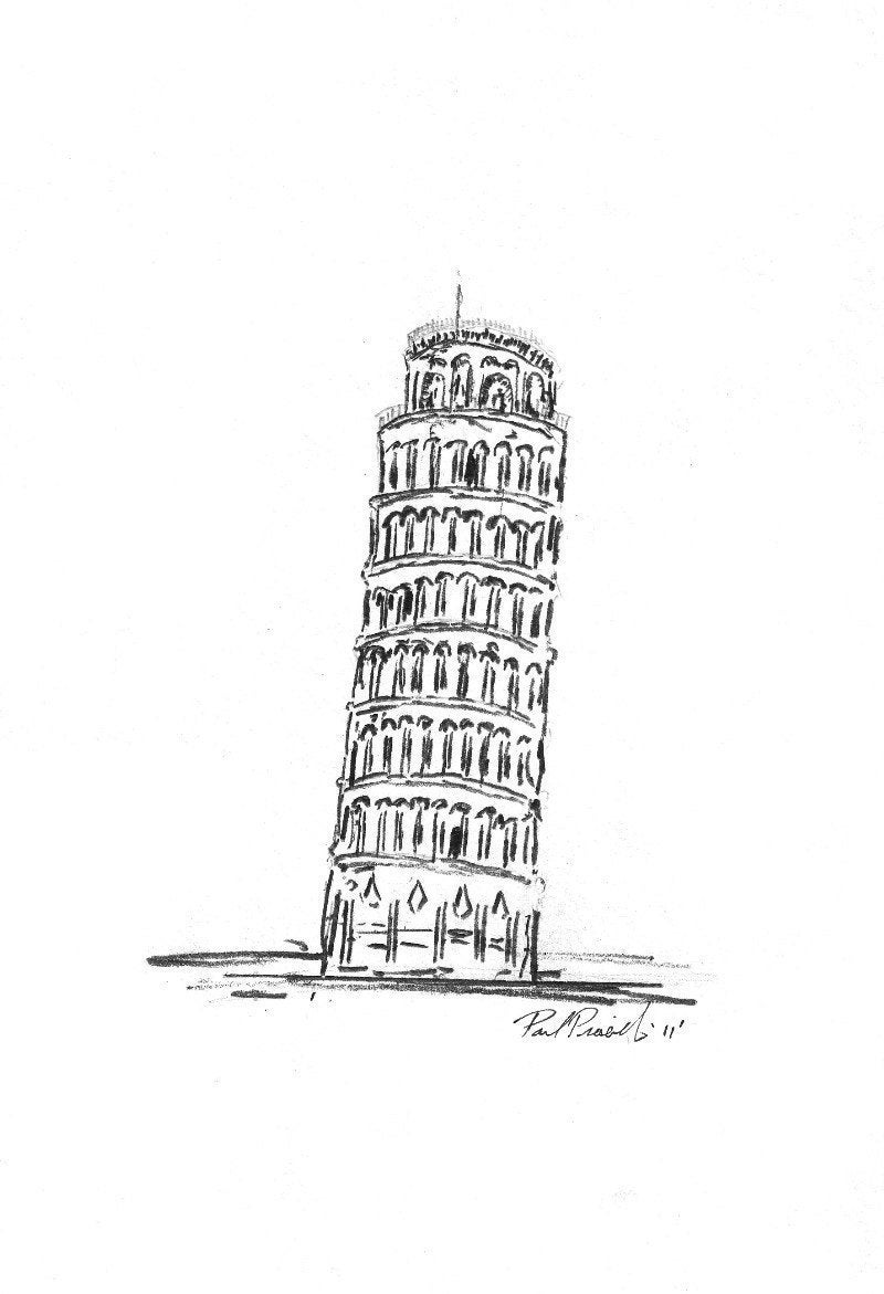 pisa drawing the leaning tower of pisa drawing by inna j pisa drawing