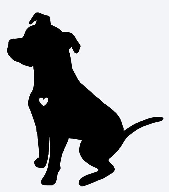 pitbull silhouette this decal is made of a high quality outdoor rated matte pitbull silhouette
