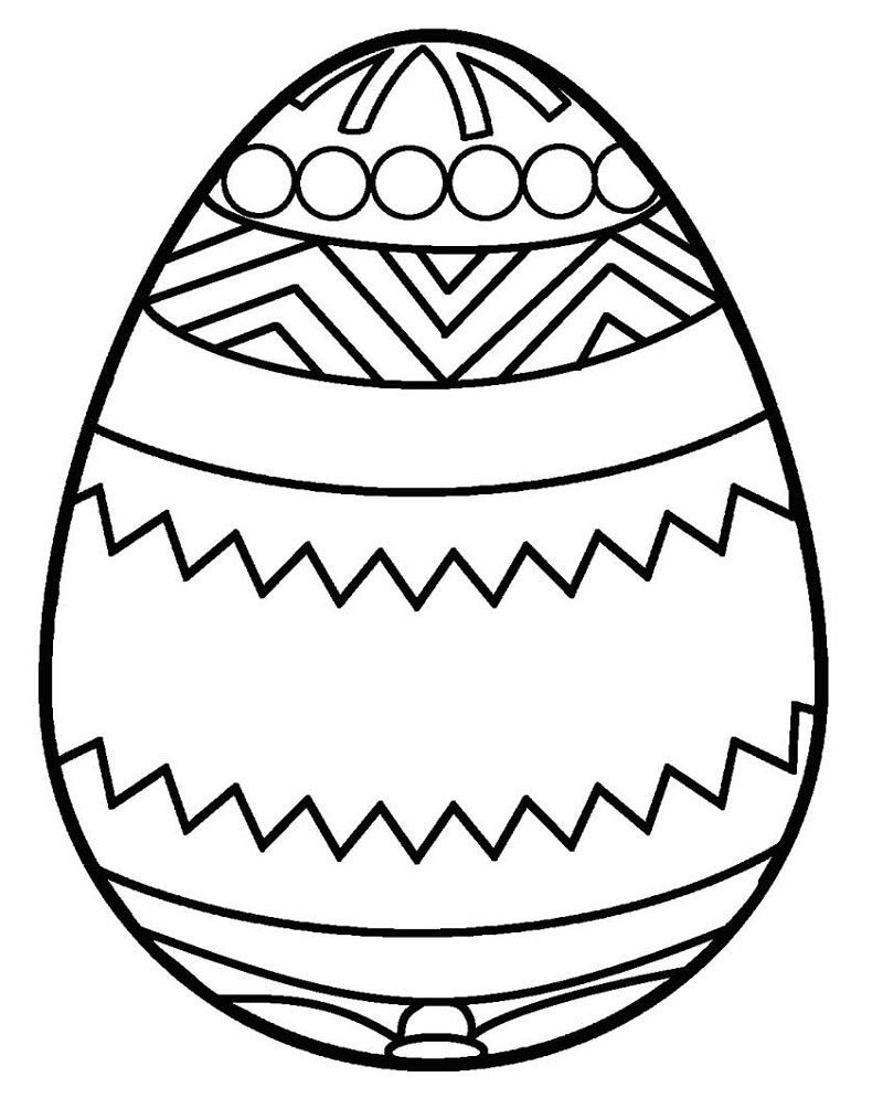 plain easter egg coloring pages blank easter egg template coloring 001 in 2020 coloring egg easter coloring pages plain