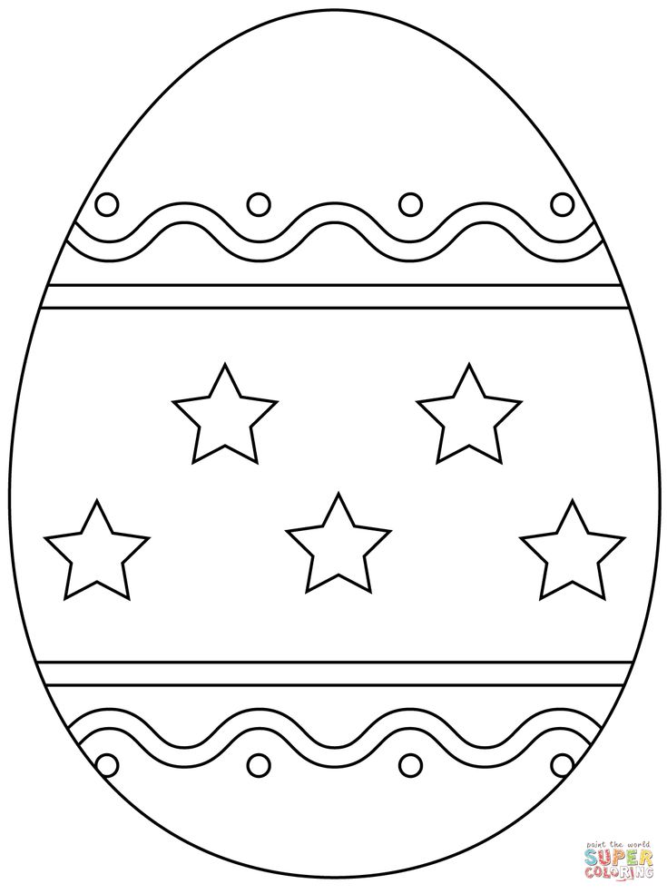plain easter egg coloring pages easter egg with simple pattern super coloring easter coloring egg pages plain easter