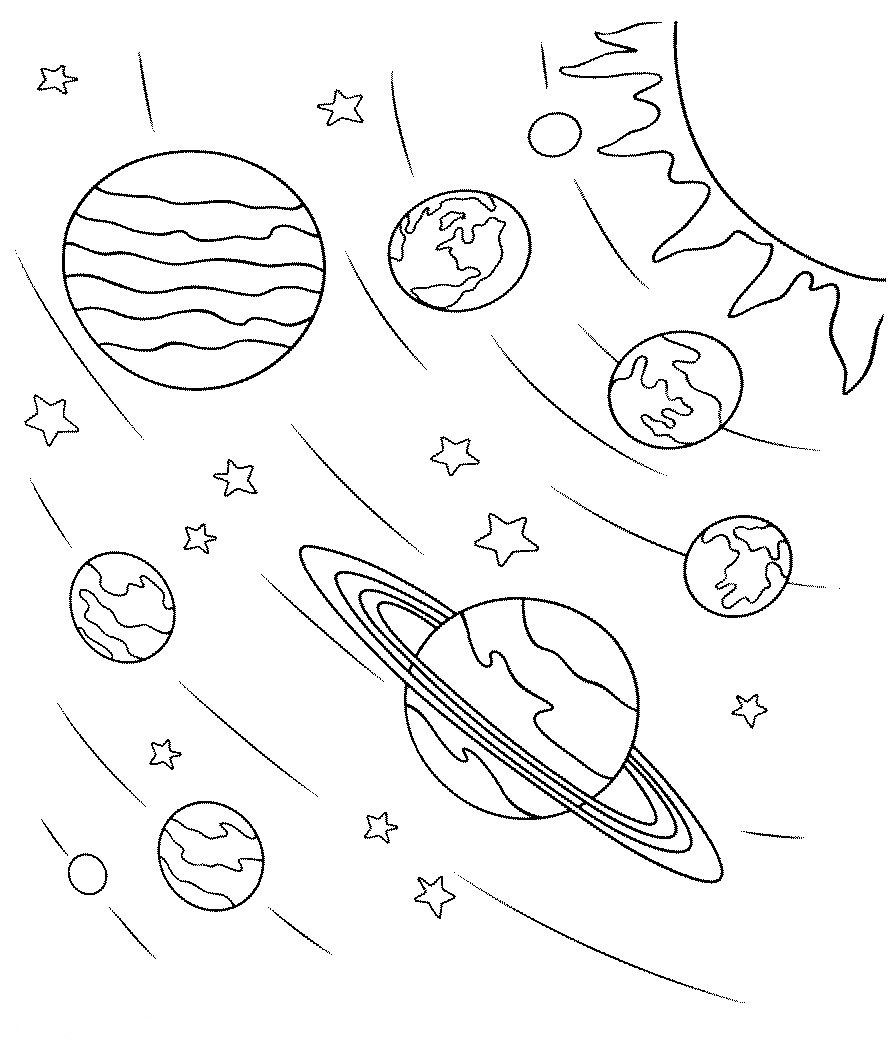 planet coloring pages with the 9 planets planets drawing at getdrawings free download with planets coloring the pages 9 planet