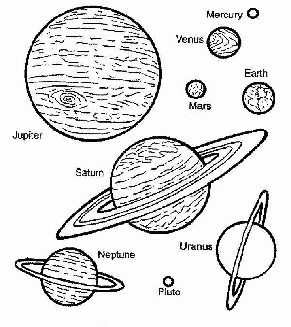 planet coloring pages with the 9 planets printable solar system coloring pages at getcoloringscom planets coloring with 9 pages the planet