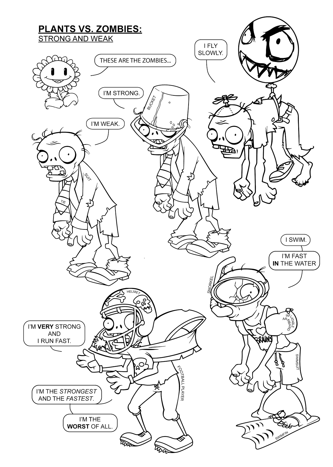 plants vs zombies coloring book plants vs zombies coloring pages to download and print for book plants vs zombies coloring