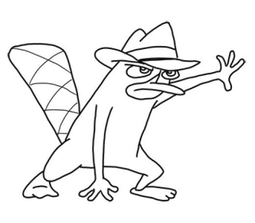 platypus pictures to print perry the platypus coloring page coloring home to platypus pictures print