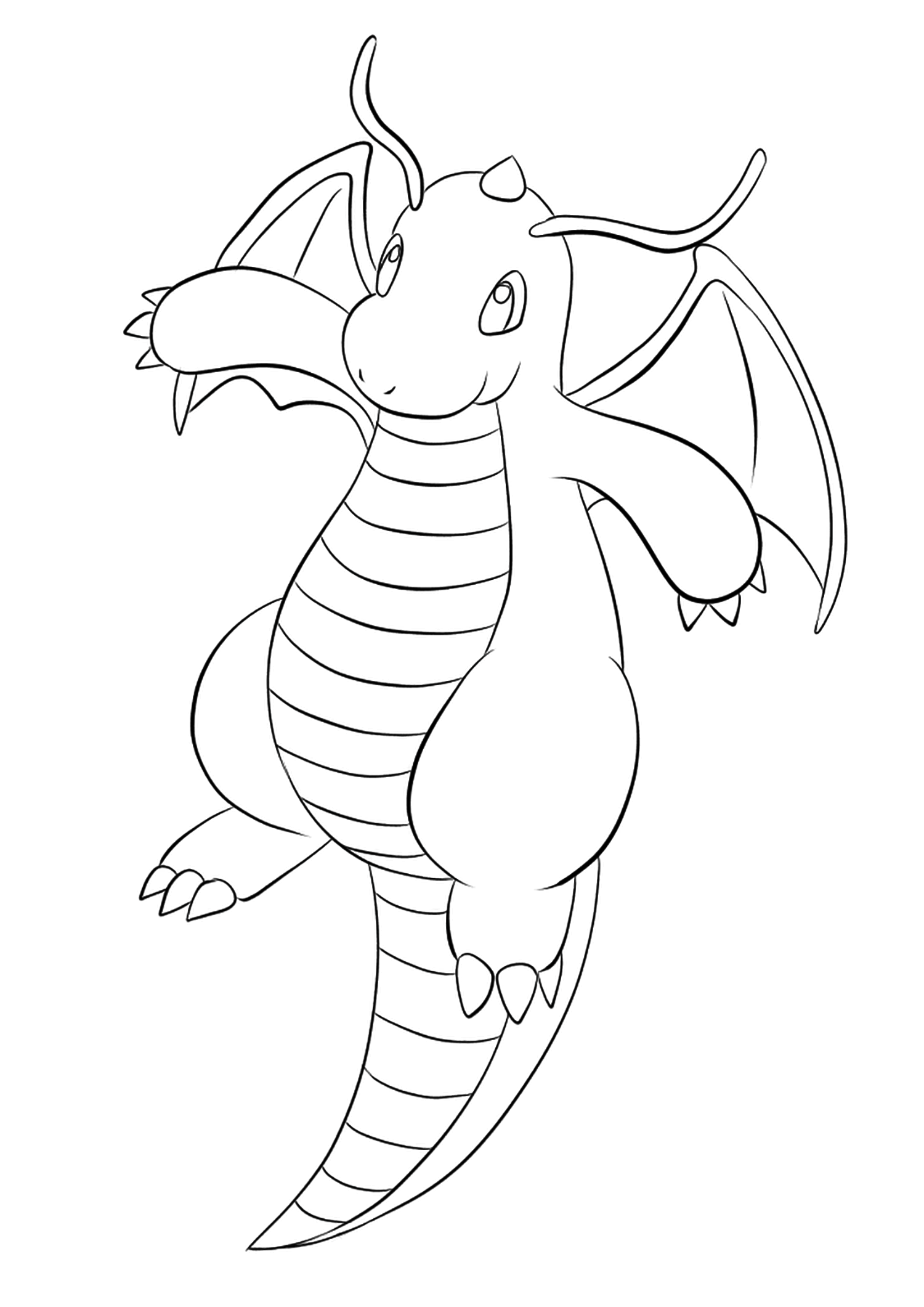 pokemon coloring pages dragonite dragonite coloring sheet on paintnet the expert pages coloring pokemon dragonite