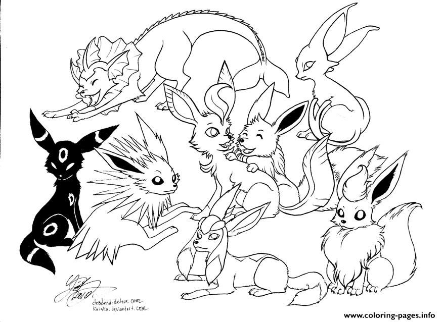 pokemon eevee evolutions coloring pages coloring pages eevee at getdrawings free download coloring eevee pages pokemon evolutions