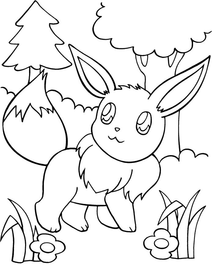 pokemon eevee evolutions coloring pages eeveelutions coloring pages at getdrawings free download pages coloring evolutions pokemon eevee