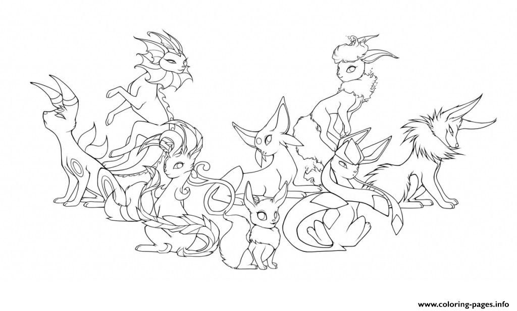 pokemon eevee evolutions coloring pages eeveelutions remastered line art by raindropsweet on pages eevee pokemon evolutions coloring