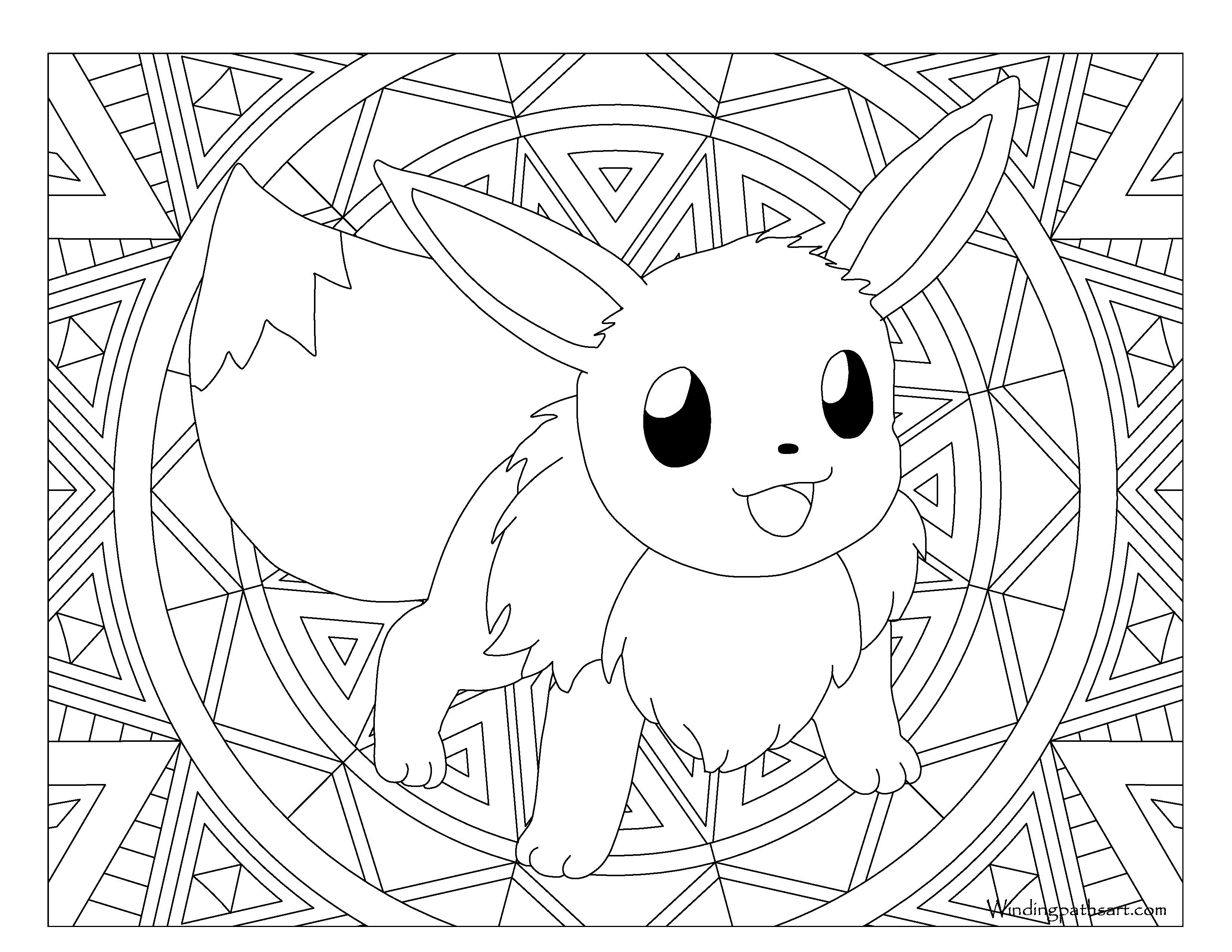 pokemon eevee evolutions coloring pages pokemon coloring pages eevee evolutions glaceon sketch eevee pokemon coloring pages evolutions